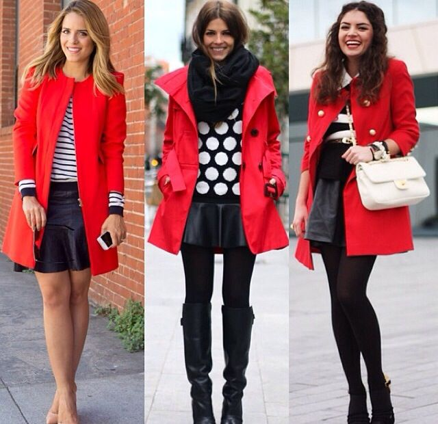 Red coat anD black
