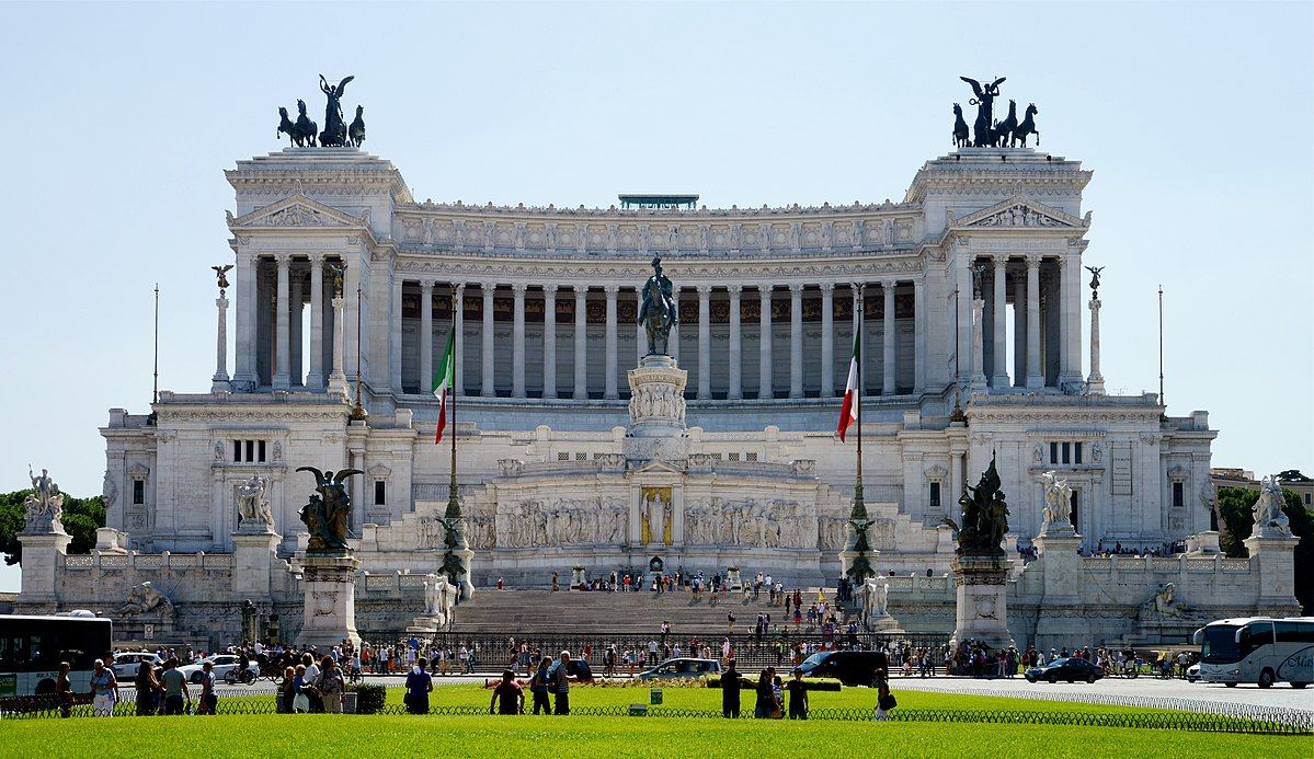 Image result for rome chariot statue on building Rome