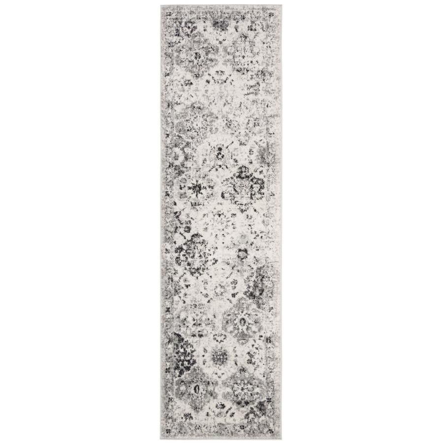 Safavieh Madison Lyton Silver Gray Indoor Vintage Runner Common 2 X 12 Actual 2 3 Ft W X 12 Ft L Mad611g 212 In 2020 Vintage Rugs Rug Runner
