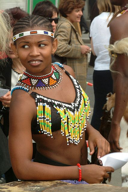 Pretty Zulu Girl South Africa Zulu Women African People