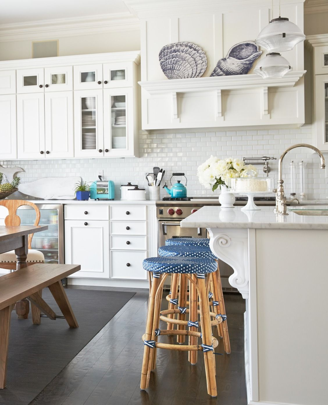 Obsessed With This Clean, Blue U0026 White Hamptons Kitchen Design And Decor! Part 87