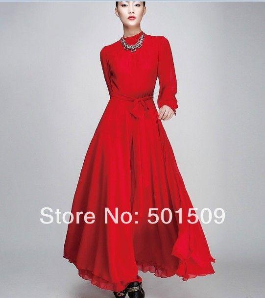 Renaissance Gown Queen Dress Chiffon Redblack Colors Stage