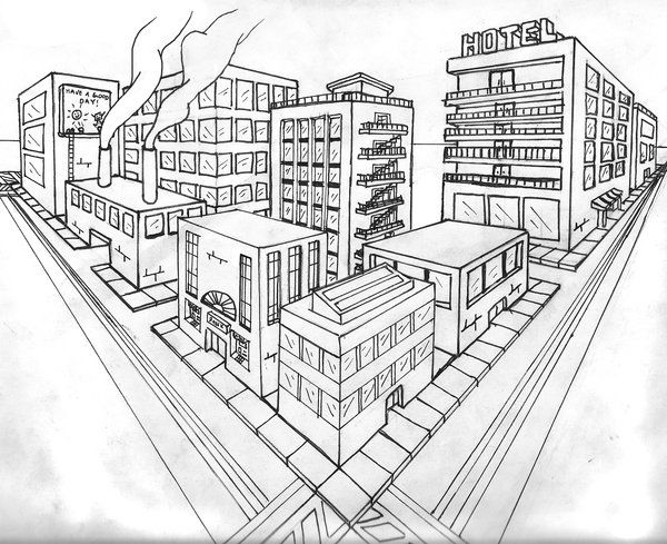 City In Perspective By Manwiththecamera On Deviantart Perspective Drawing Architecture Perspective Drawing Lessons Perspective Art