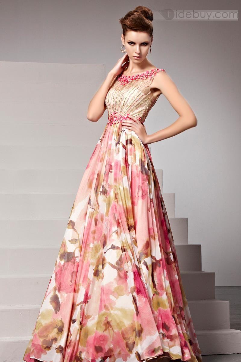 Vestidos de fiesta estampado | moda | Pinterest | Vestidos de fiesta ...
