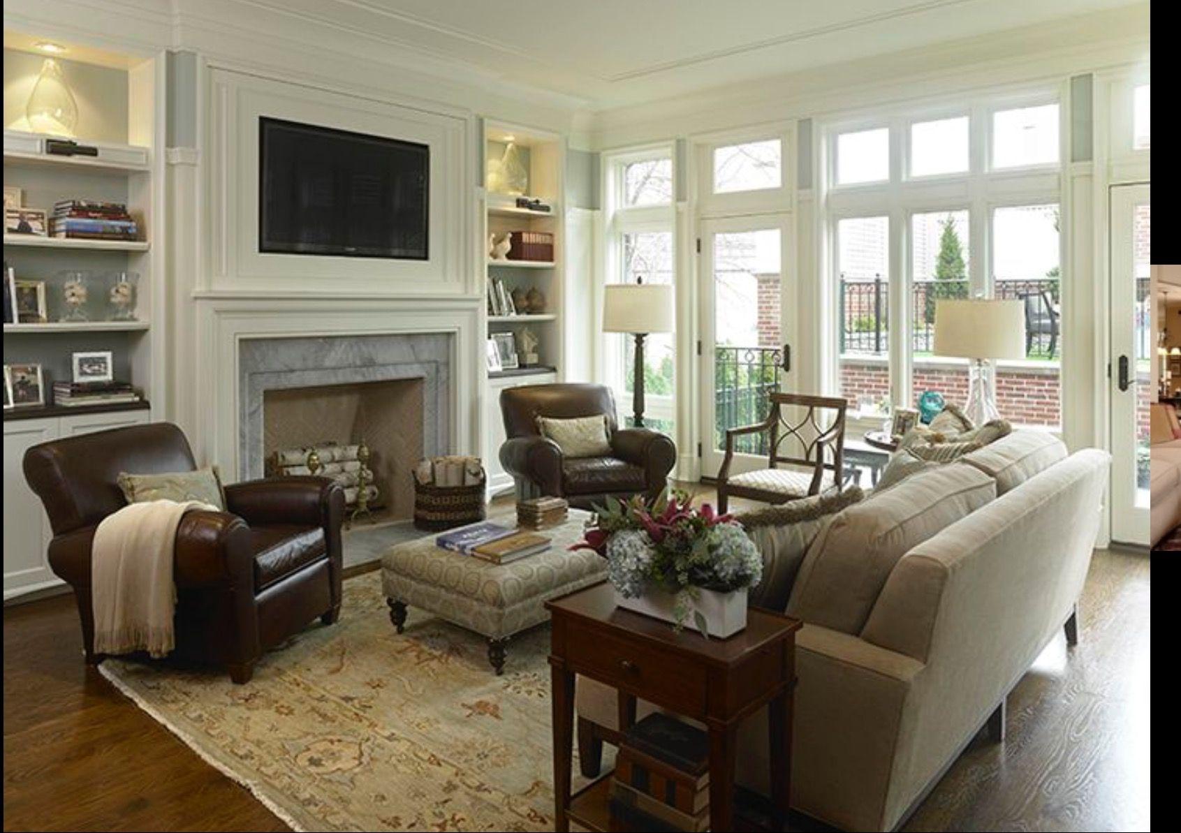 Pin by Dana on Remodeling | Living room setup, Family room ...
