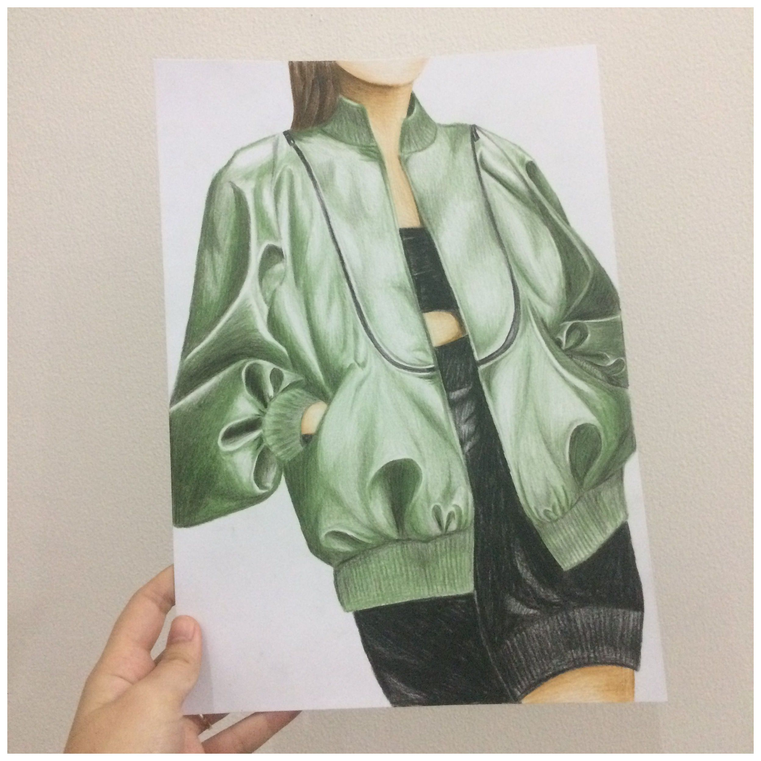 Bomber Jacket Sketch Bomberjacketsketch Leather Bomber Jacket Sketch With Penc In 2021 Fashion Illustration Face Dress Design Sketches Fashion Illustration Dresses [ 2496 x 2496 Pixel ]