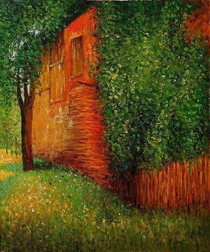 Gustav Klimt - Farmhouse at Kammer (detail), 1901
