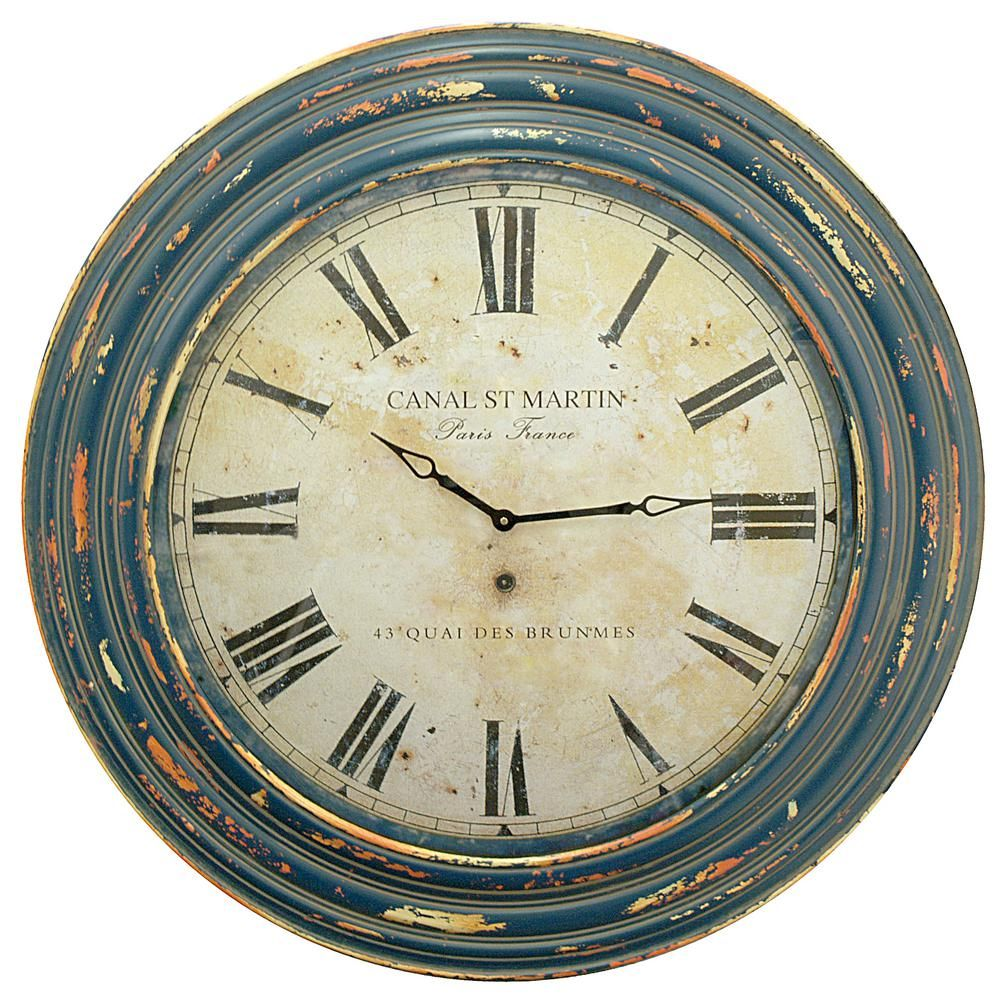 Blue wood wall clock blues wood walls wall clocks and clocks