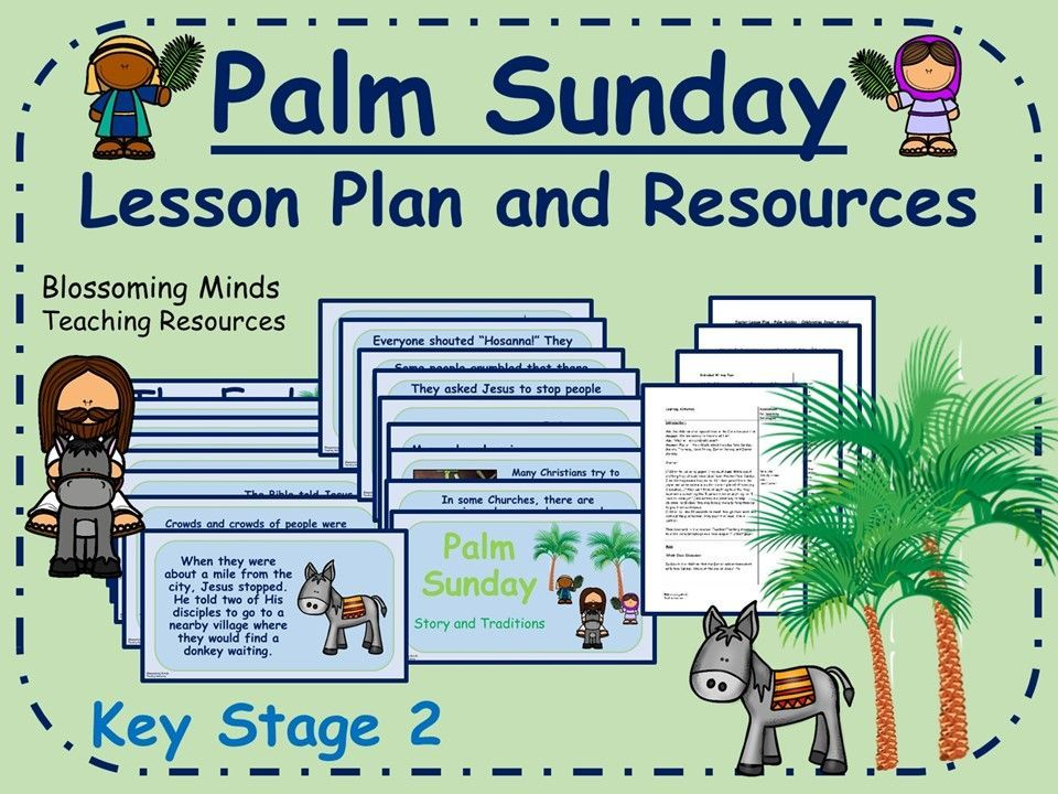 Palm Sunday Lesson Plan and PowerPoint (Easter) KS2