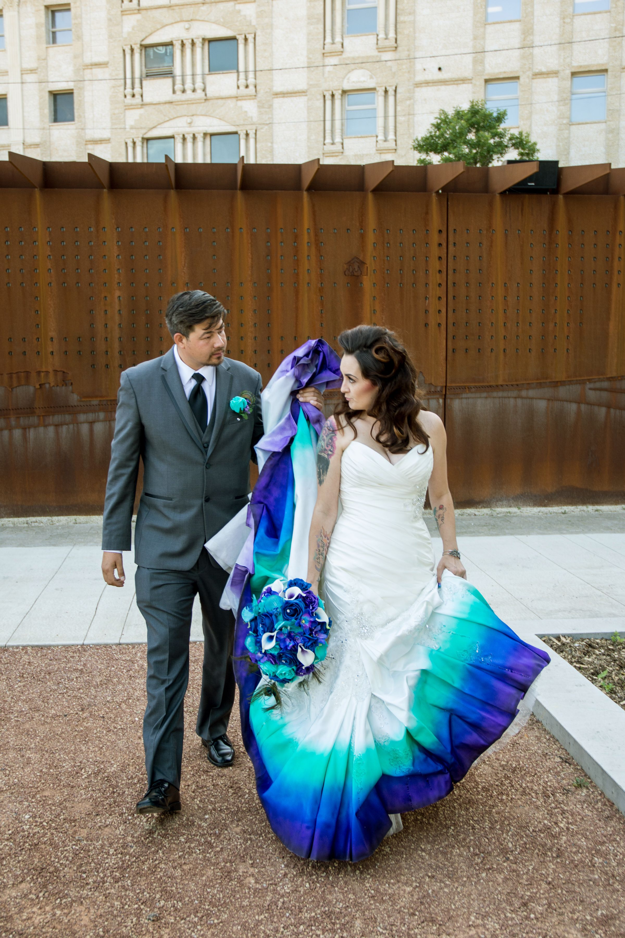Peacock Wedding Dress for Sale