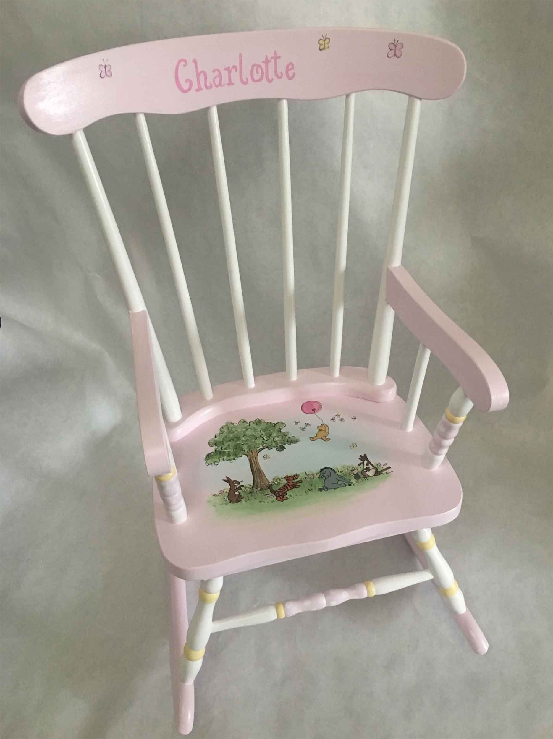 Toddlers Rocker Child S Rocking Chair Hand Painted Kids Rockers Children Furniture Baby Gifts By Babydreamdecor On Etsy