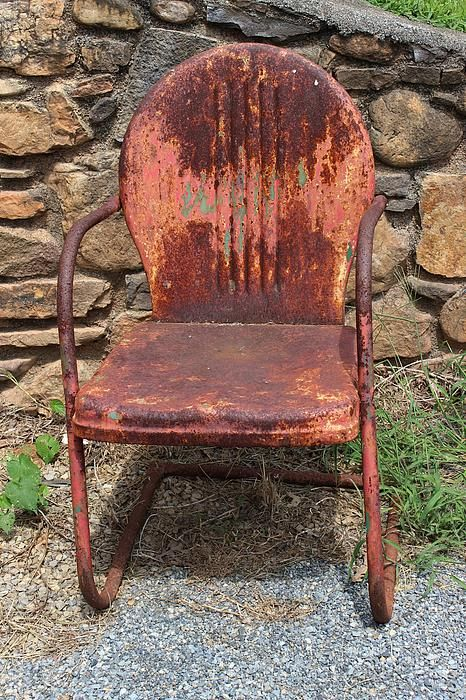 Old Metal Chairs Sciatic Nerve Chair Pillow Rust Pinterest
