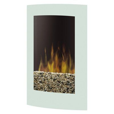 Dimplex 27.5-in White Wall-Mount Electric Fireplace   Wall mount ...