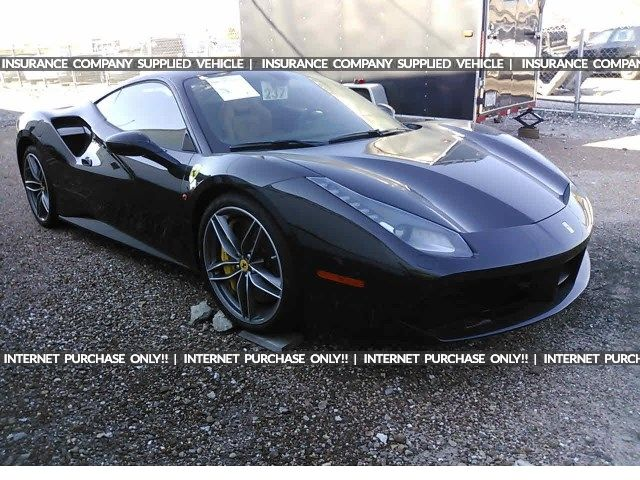 Salvage 2017 Ferrari 488 Gtb Coupe For Sale Certificate Of