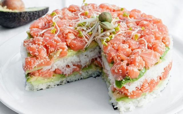 Le gâteau sushi