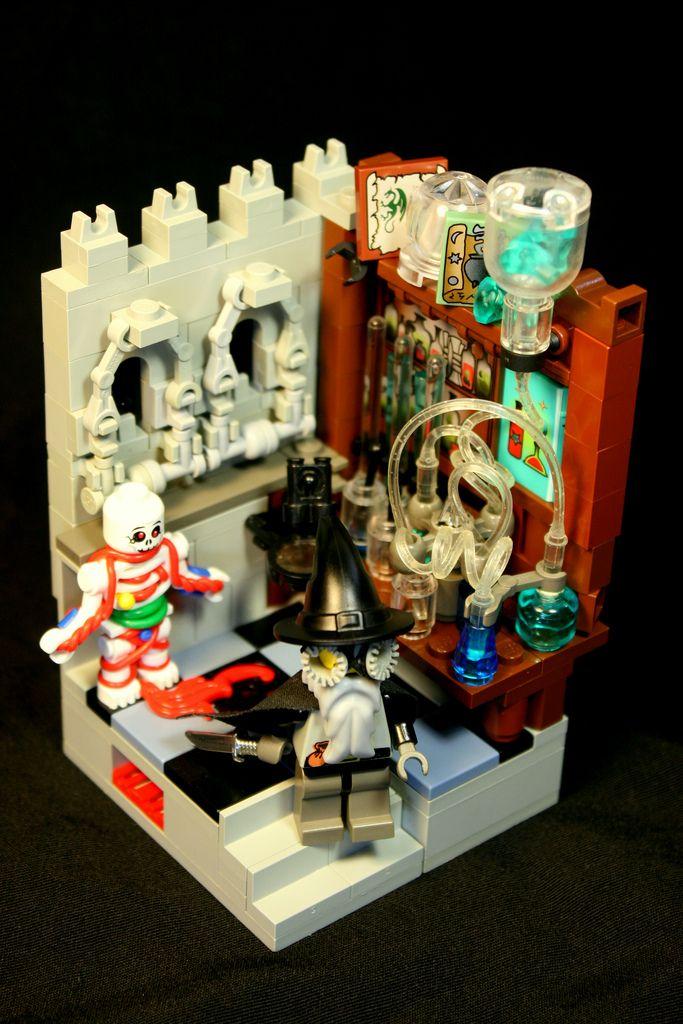 Alchemist S Tower Steampunk Lego Cool Lego Lego Creations