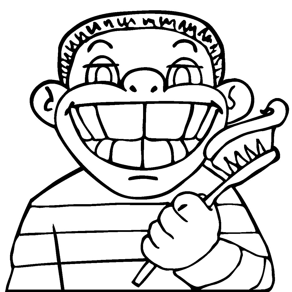 Colouring in pages dental - Daily Activities And Life Skills Clip Art For Teachers Parents Dental Health Coloring Pages