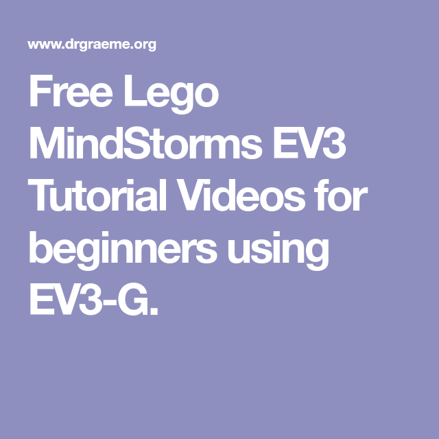 Ev3 lego mindstorm video lesson tutorials by eric ebert   tpt.