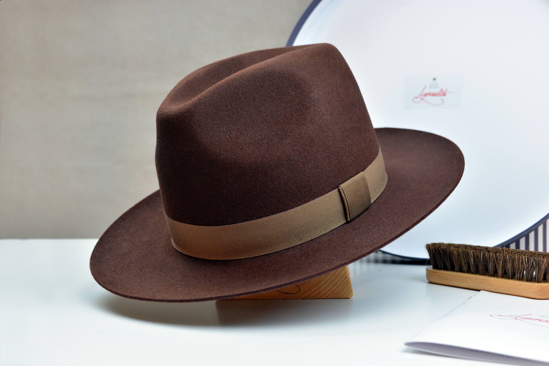 Chocolate Brown  Cloche Women   Millinery Deluxe Fur Felt Hat