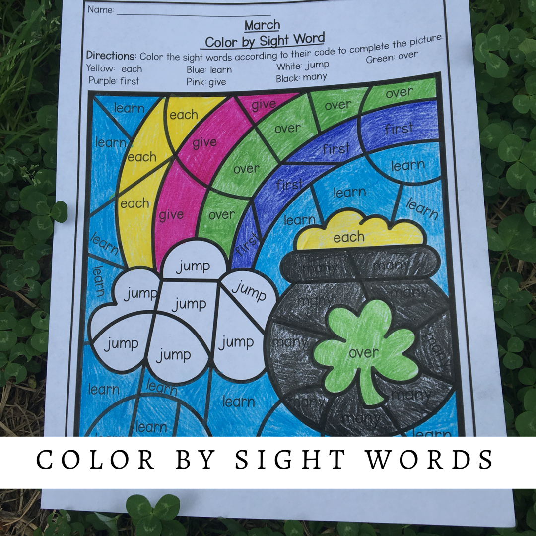 Check Out This Fun March Color By Sight Words It Will