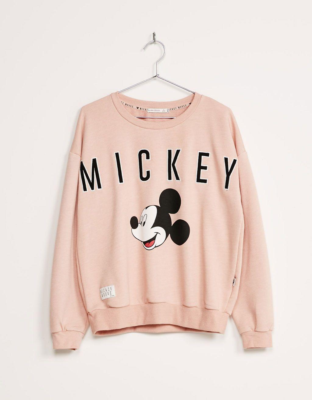 9db1000f889c1 Sweat-shirt « Mickey » BSK - Sweat-shirts - Bershka France ...