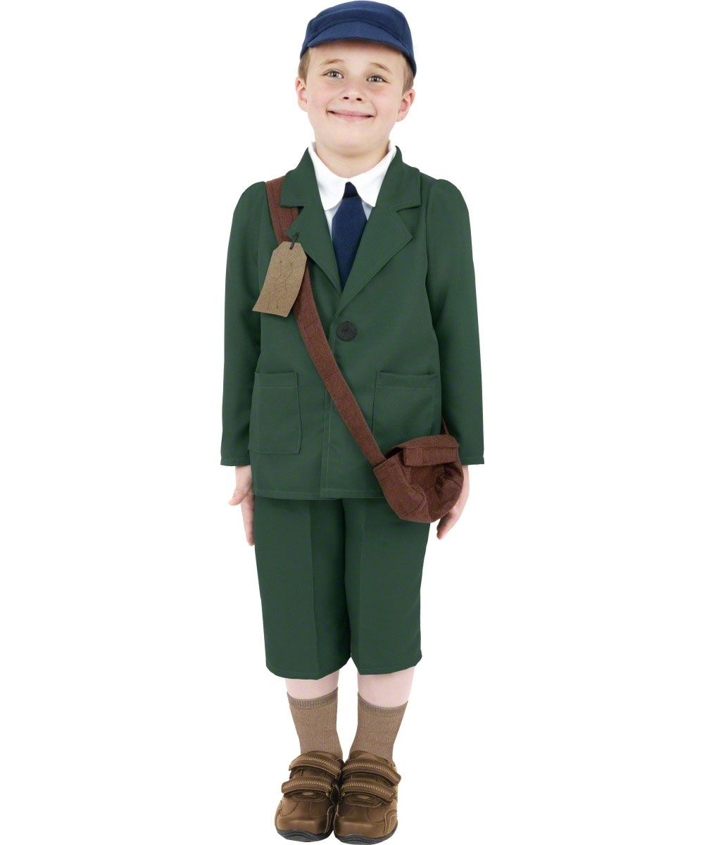 Day reenactment ww ii pictures pinterest - Our Child World War Ii Evacuee Boy Costume Is A Superb Idea For World Book Day Featuring A Brown Evacuee Bag For An Authentic Look This Outfit Is Ideal