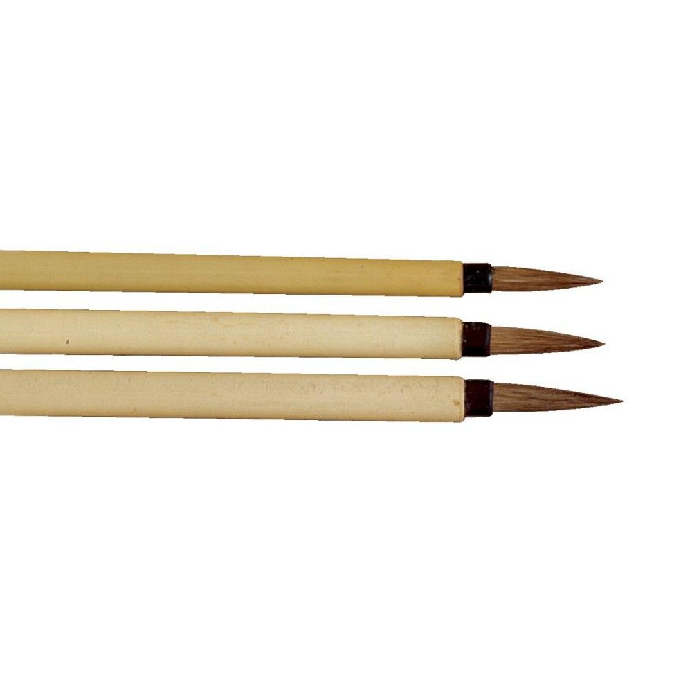 Sax Fine Brown Hair Bamboo Handle Watercolor Paint Brush Set
