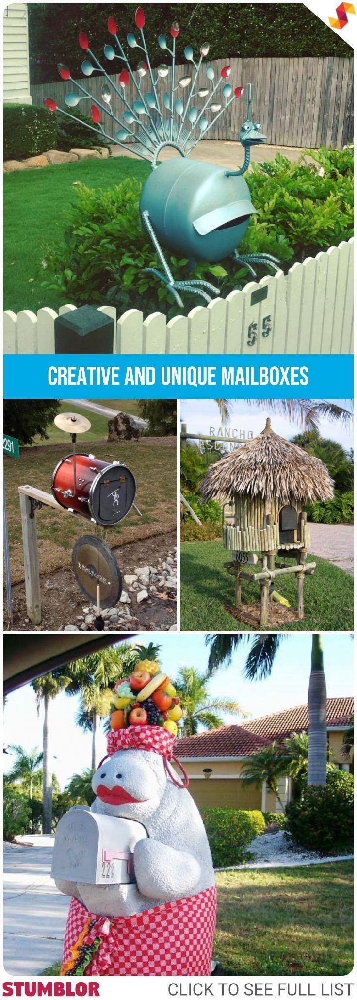 15 Creative And Unique Mailboxes Mail Mailbox Mailboxes Uniqe