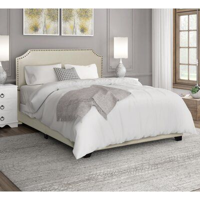 Zipcode Design Kyara Upholstered Panel Bed Size King Color Beige Upholstered Beds Upholstered Panel Bed Bed