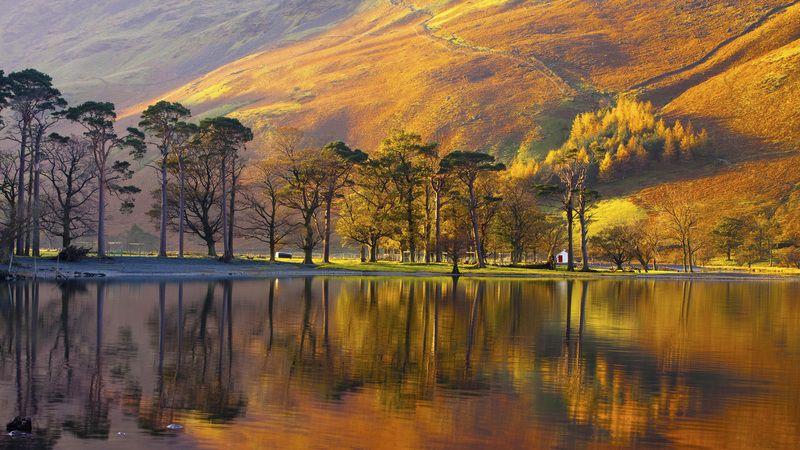 Lake Buttermere Lake District National Park England Fotos Natureza Paisagens