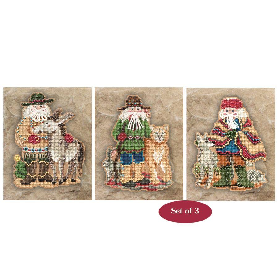 for G/D & M/D: stitchery.com: Southwest Santa Ornaments (T51-315)  $19.99