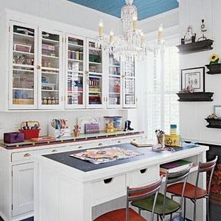 These cabinets are nice! Hidden away, yet you can still see where everything is organized. :)
