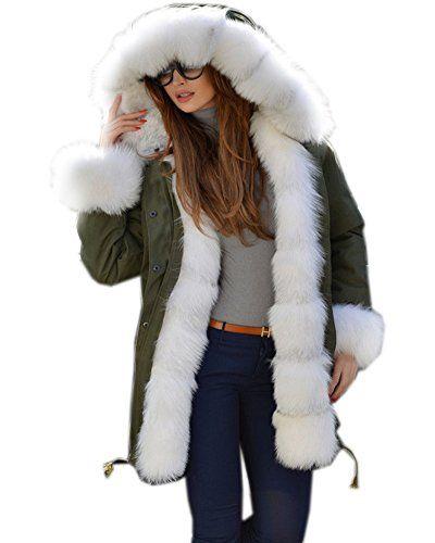 Pandapang Mens Thicken Cotton-Padded Hooded Outerwear Fleece Parkas Coats