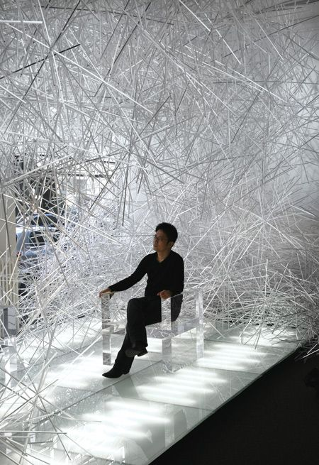 Snowflake by Tokujin Yoshioka - amazing visual installation