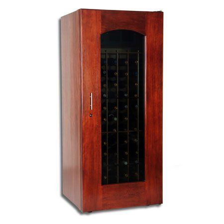 Le Cache Model 1400 Wine Cabinet Classic Cherry Finish By Le