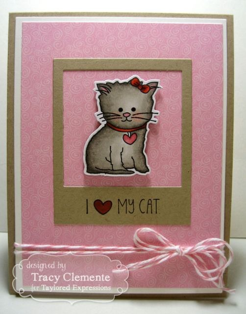 i ♥ my cat cardtracy clemente cardmaking critters