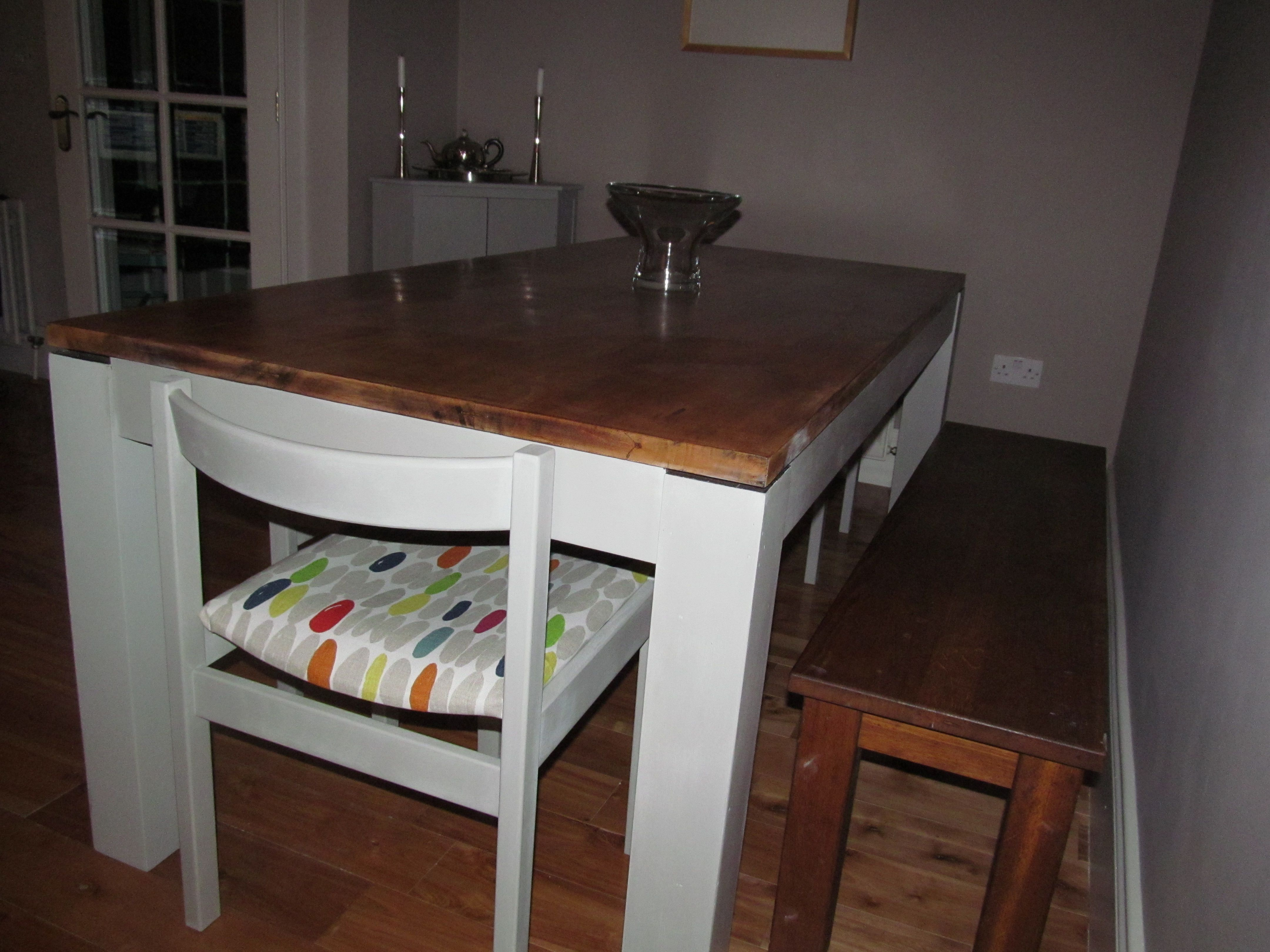 Terrific Revamped Mango Wood Dining Table Chairs And Table Painted Machost Co Dining Chair Design Ideas Machostcouk