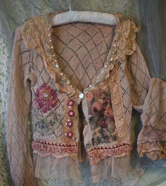 reworked vintage cardi by fleurbonheurn pink sweater