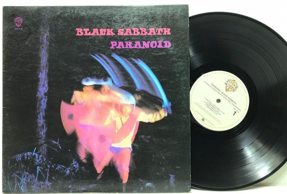Black Sabbath Paranoid Bsk 3104 Warner Brothers Lp Vinyl Record Album Vinyl Records Vinyl Record Album Lp Vinyl