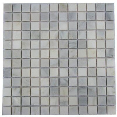 For Border In Shower 1x1 White Carrara Marble Polished Mosaic Tiles For Backsplash Shower Walls Bathroom Floor Marble Polishing Flooring Carrara Marble Tile