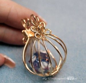 Hinged Cage Pendant