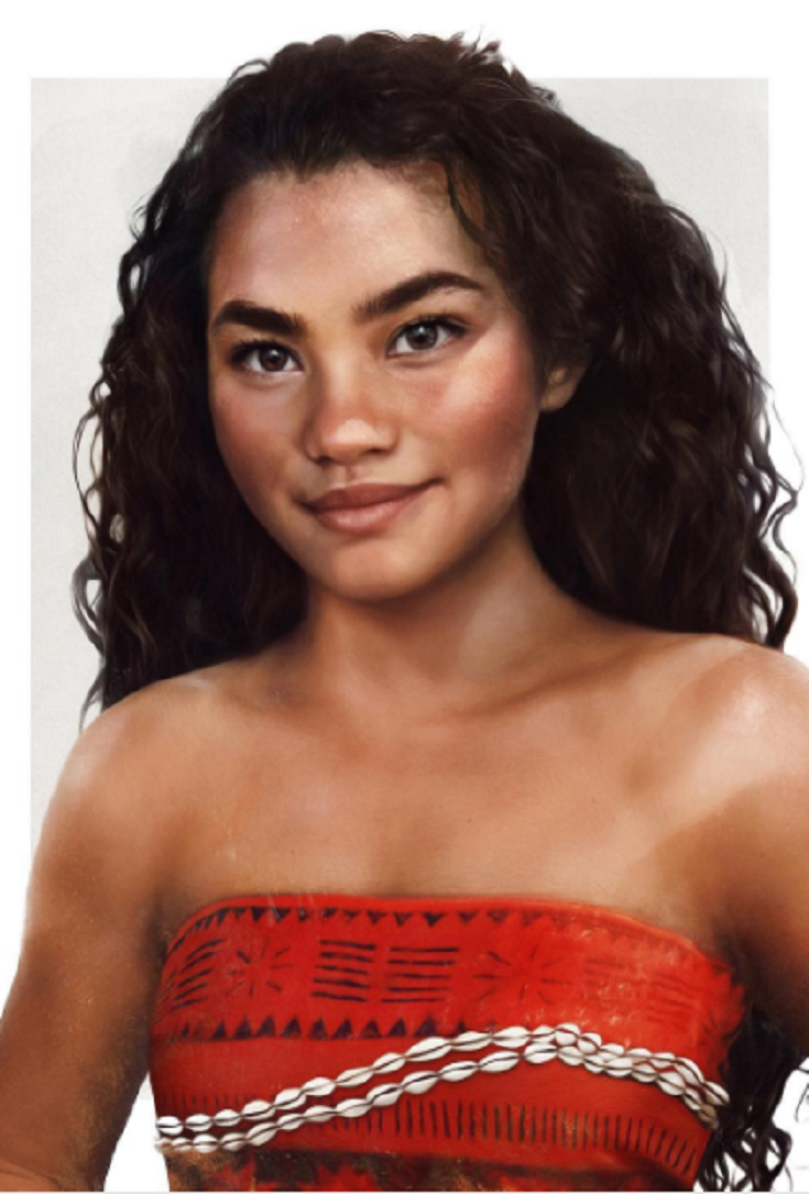 Heres What Disney Princess Moana Would Look Like In Real Life - Artist repaints disney princesses to look more realistic with amazing results