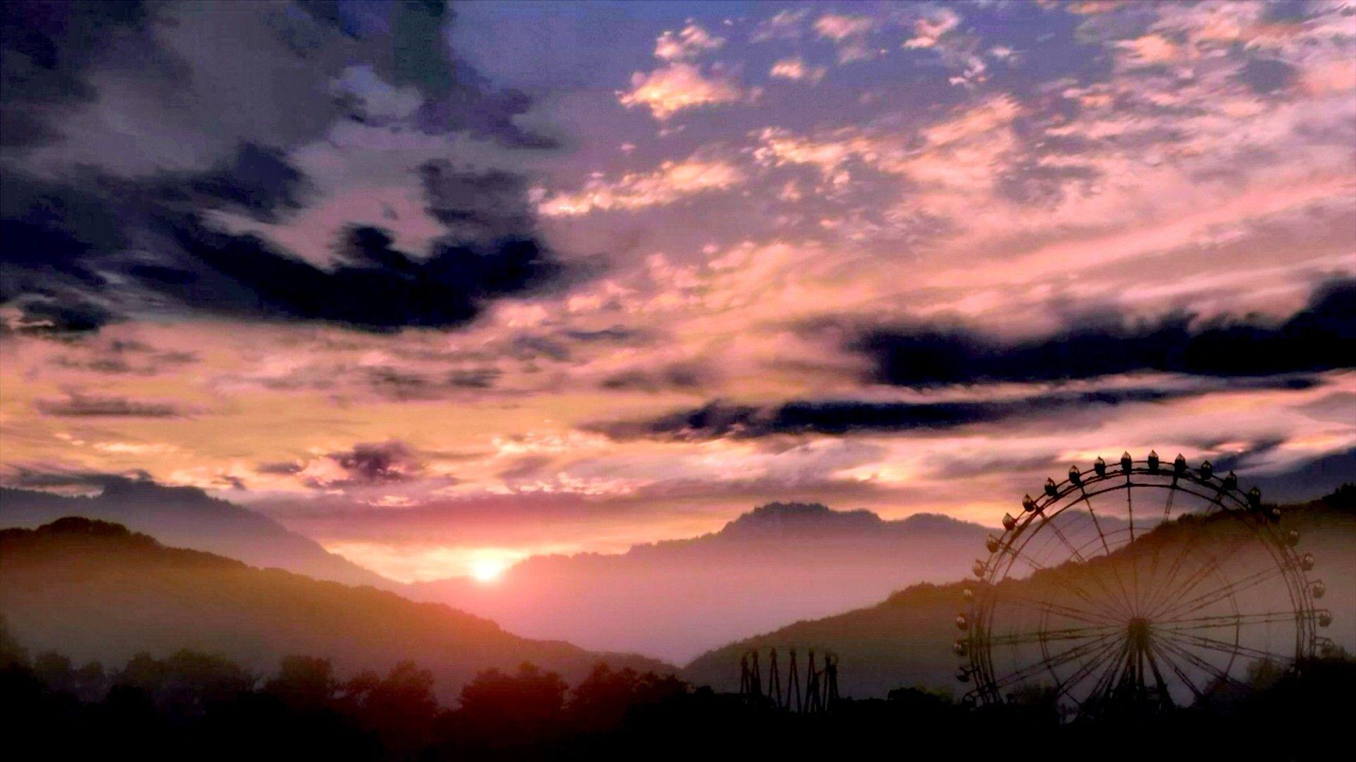 Anime Sunset Anime Sunset Sky Wallpapers Kawaii Art Kurdishotaku خلفيات غروب الشمس أنمي خلفيات أنمي كاواي صور Anime Scenery Sunset Scenery