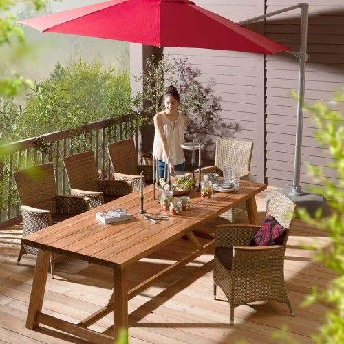 Gartentisch Holz Massiv Gross 250x100 Cm Akazie Natur Fsc Outliv