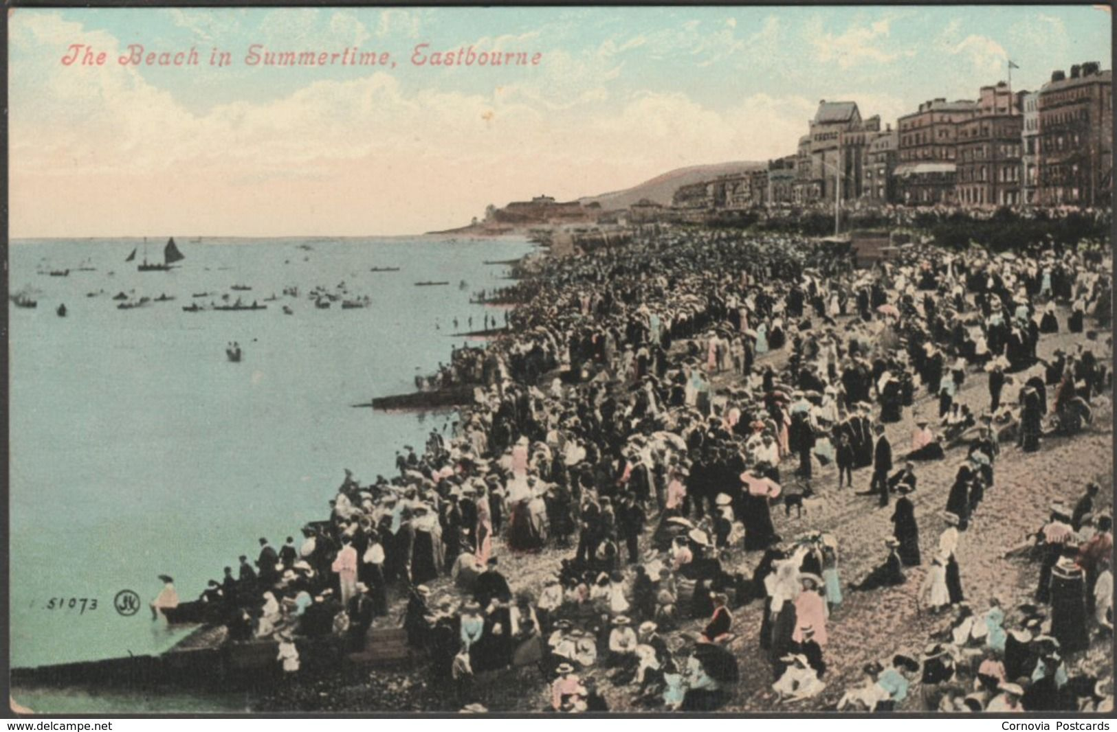 The Beach In Summertime  Eastbourne  Sussex  C 1905