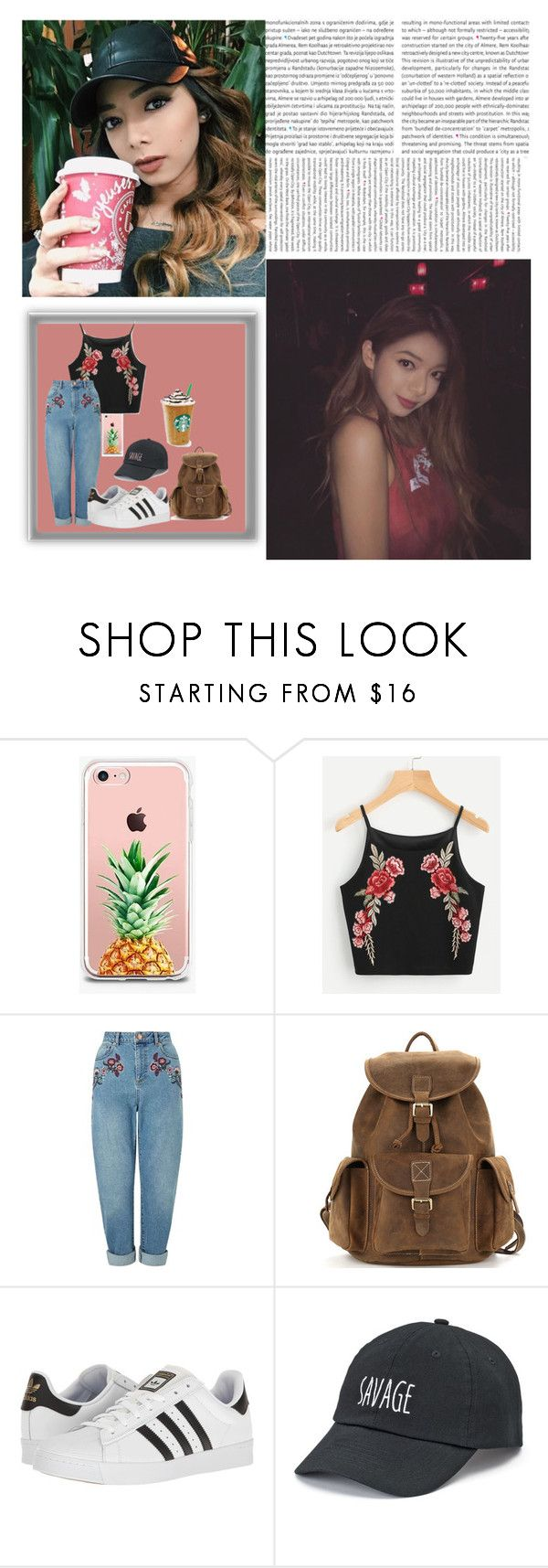 """Getting Coffee ✯ Nguyet"" by an-nguyet ❤ liked on Polyvore featuring Oris, The Casery, Miss Selfridge, adidas and SO"