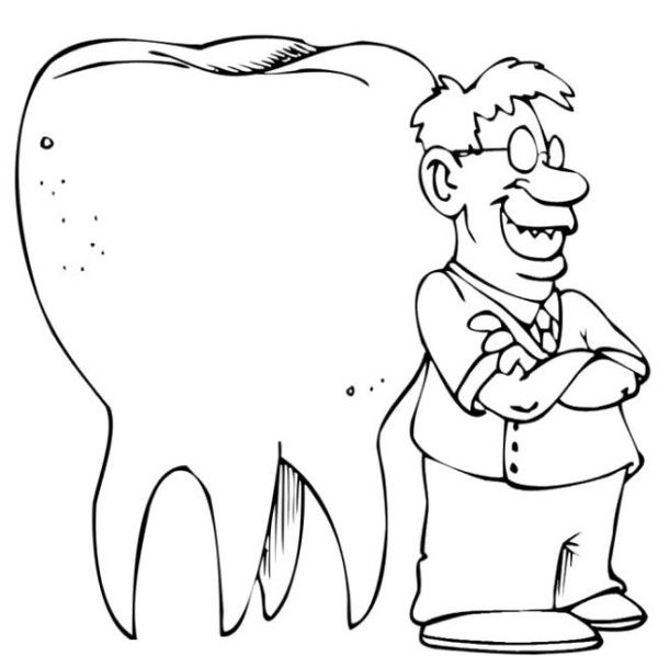Going To The Dentist Coloring Page For Kids | Kids Coloring Pages ...