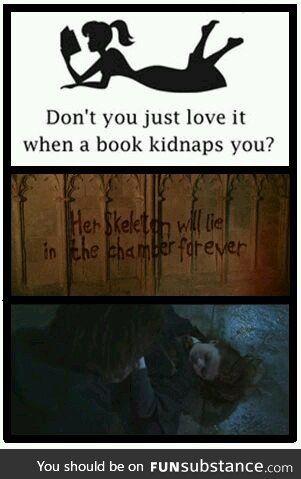 When a book kidnaps you. Literally