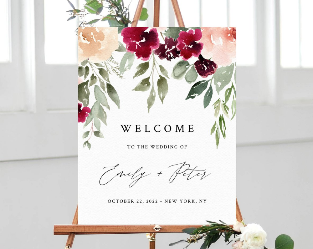 Image result for wedding sign foam board blog