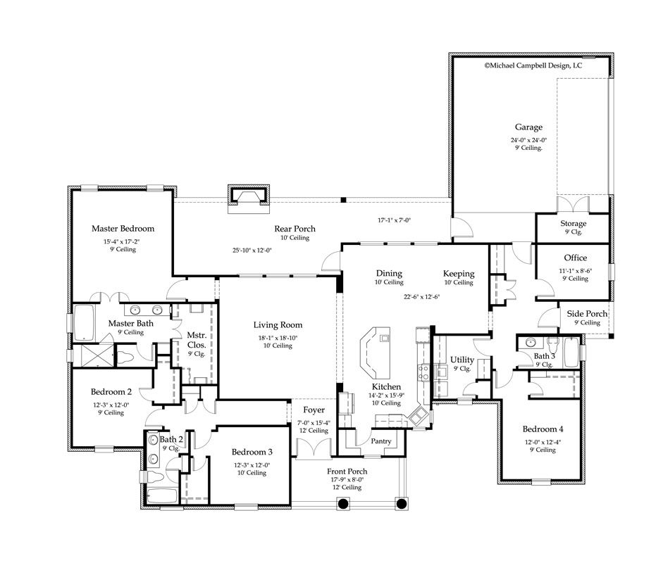 One Story Acadian House Plans One Free Printable Images House